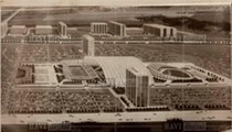 Check out this 1970s rendering of a dual Detroit Lions and Tigers complex in Pontiac