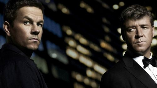 Chinatown this ain't: Crowe and Wahlberg in Broken City.