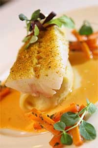 Citrus roasted black cod. - MT PHOTO: ROB WIDDIS