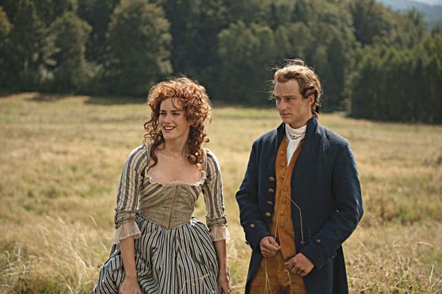 Cue dirty tryst in field: Miriam Stein and Alexander Fehling in Young Goethe in Love.