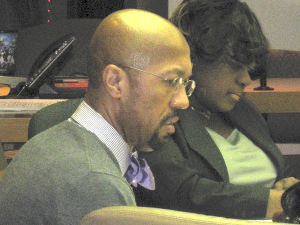 Detroit City Council President Charles Pugh at Monday's non-meeting. - CURT GUYETTE