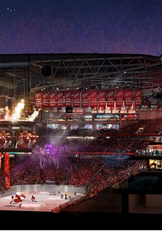 New Detroit Red Wings arena cross-section rendering.