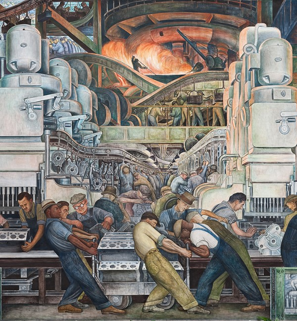 """Detroit Industry"" murals by Diego Rivera (photo courtesy of the Detroit Institute of Arts)"