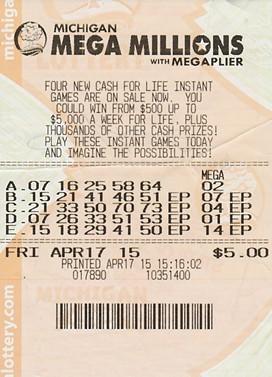 Fred Morgan's winning ticket - MICHIGAN LOTTERY