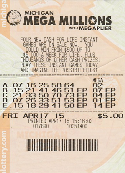 Fred Morgan's winning ticket - MICHIGAN LOTTERY