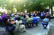 Detroit's Paradise Valley Park during a recent jazz concert.