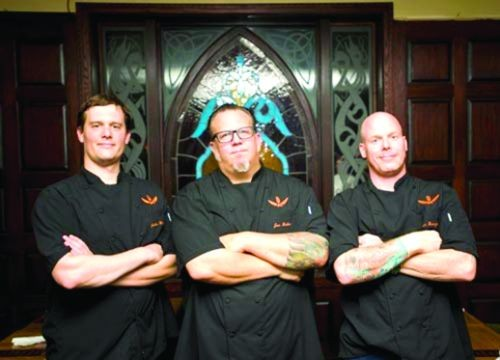 Detroit's Three Chefs, from left: Jacob Williams, Joe Nader and Scott Breazeale.