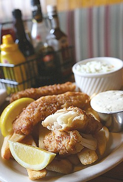 Doyle's Chipper: Guinness-battered cod with Irish chips and pub-made remoulade - MT PHOTO: ROB WIDDIS