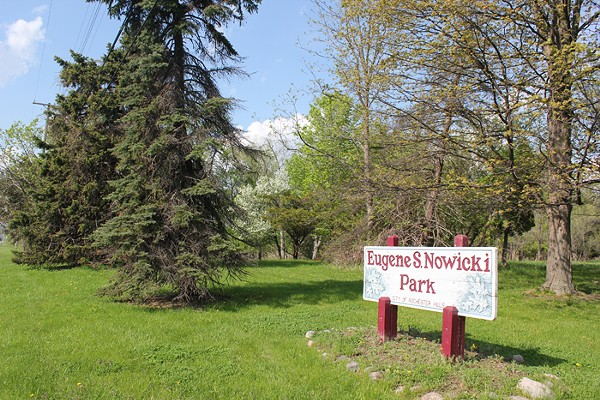 Eugene S. Nowicki Park is one of three pieces of land owned by Rochester Hills, which leased its mineral rights to an oil and gas exploration company last year. (Courtesy of Don't Drill the Hills) - COURTESY PHOTO.