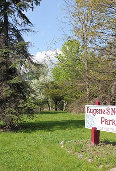 Eugene S. Nowicki Park is one of three pieces of land owned by Rochester Hills, which leased its mineral rights to an oil and gas exploration company last year. (Courtesy of Don't Drill the Hills)