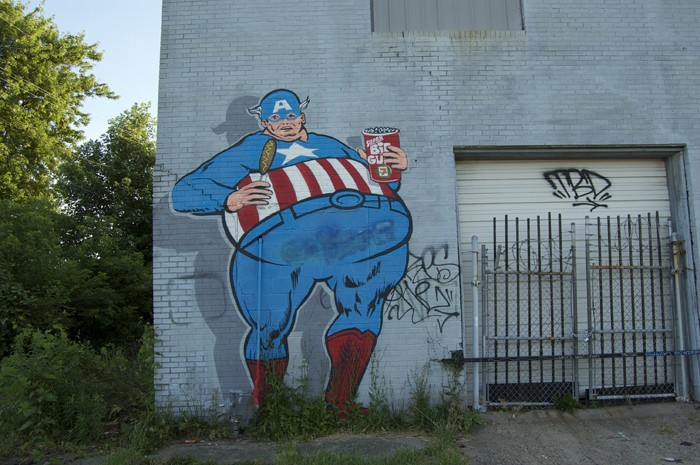 Fat Captain America by Sever