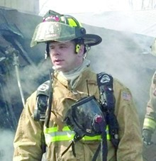 Firefighter Brian Woehlke was killed when a roof collapsed.
