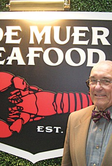 Fish story: Joe Muer stands in front of the newly resurrected Joe Muer Seafood.