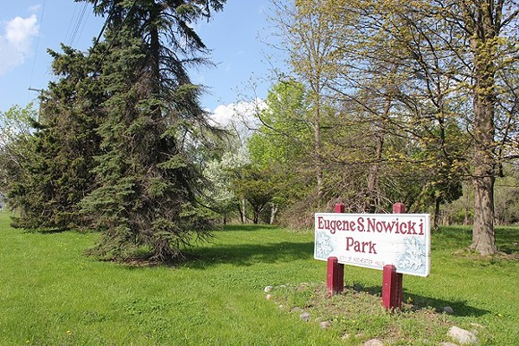 Eugene S. Nowicki Park is one of three pieces of land owned by Rochester Hills, which leased mineral rights of the property to an oil and gas exploration company last year. - DON'T DRILL THE HILLS