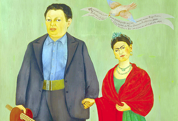 Frieda and Diego Rivera, Frida Kahlo, 1931, oil on canvas, San Francisco Museum of Modern Art, Albert M. Bender Collection, Gift of Albert M. Bender. - © 2014 BANCO DE MÉXICO DIEGO RIVERA FRIDA KAHLO MUSEUMS TRUST, MEXICO, D.F. / ARTISTS RIGHTS SOCIETY (ARS), NEW YORK