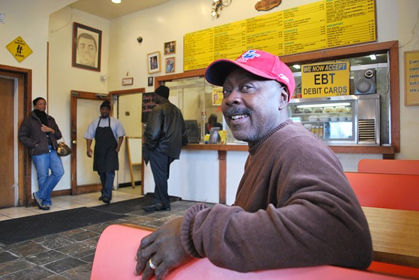 George Lyles inside his Turkey Grill restaurant. - PHOTO: DETROITBLOGGER JOHN