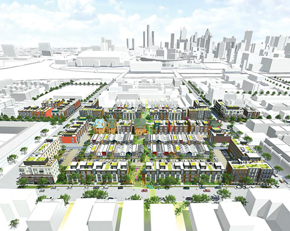 Rendering of new 8.4-acre Brush Park development. - DETROITMI.GOV