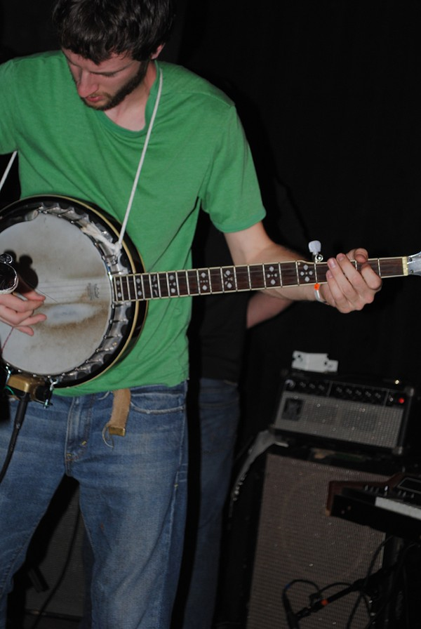 Guitarist Ben Audette switches to banjo.