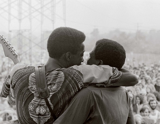Guy and Junior Wells in 1970, photographed by Stanley Livingston
