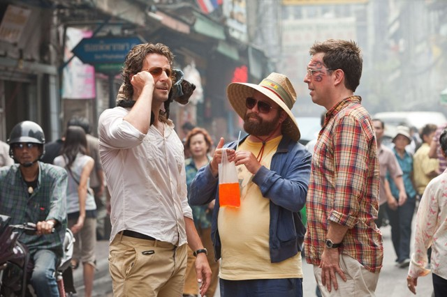 Hangover from The Hangover: Cooper, Galifianakis and Helms in The Hangover Part II�