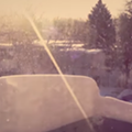 Here's a 24 hour time-lapse video of snow piling up on a balcony railing