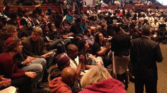 Detroit City Council chambers were filled with people there to address the imminent wave of foreclosures in the city. - PROGRESS MICHIGAN