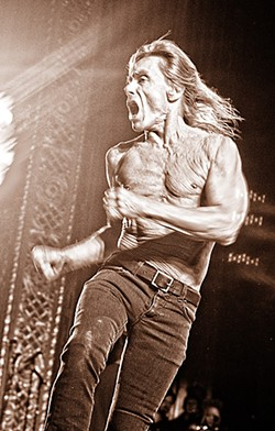 Iggy Pop getting things started at The Michigan Theater. - PHOTO: DOUG COOMBE