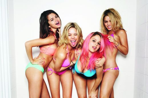 "In Spring Breakers, four college girls learn why Florida is called ""A sunny place for shady people."""
