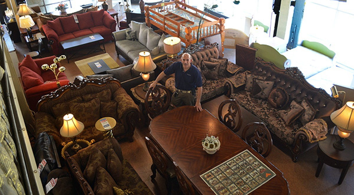 Irwin Danto inside Danto Furniture's West Vernor location.