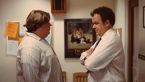 Jacob Wysocki (left) and John C. Reilly in Terri.