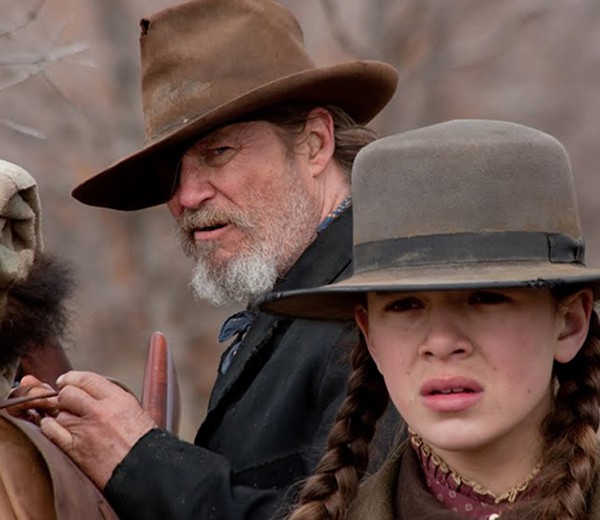 Jeff Bridges with Hailee Steinfeld: He ain't your father's Rooster Cogburn.
