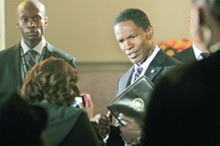 Judging by Jamie Foxx's facial expression, the actor is as dubious about his role's casting as is our reviewer.