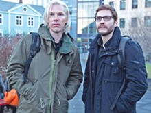 Julian Assange (Benedict Cumberpatch) and Daniel Domscheit-Berg (Daniel Brühl) plan to rid the world of secrets, but their own smarm gets in the way.