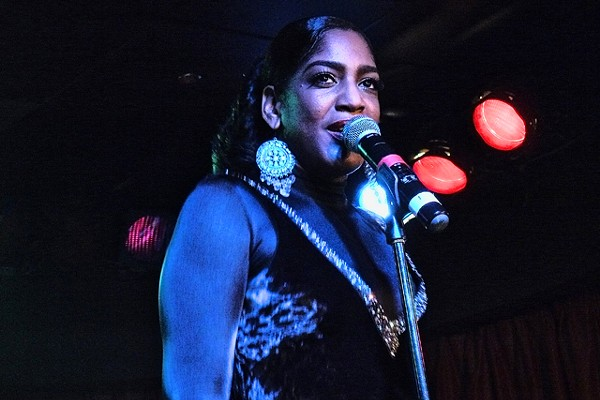 Kimmie Horne at a recent MotorCity Casino Hotel gig. - PHOTO: W. KIM HERON