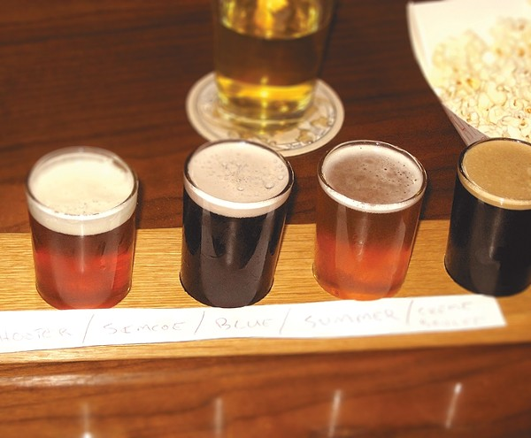 A flight of beer from Kuhnhenn Brewing Co.