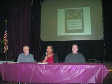 (l-r) Steve Babson,Angela Crockett and Ray Mandry talk about beating the banks.