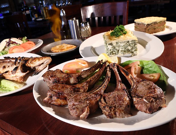 Lamb chops from New Hellas in Farmington Hills. - PHOTO BY ROB WIDDIS.