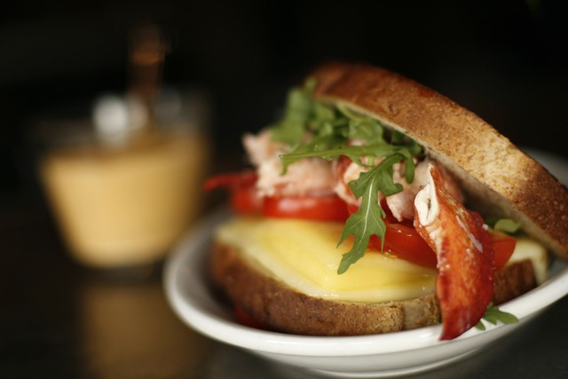 Lobster grilled cheese from Majestic Café in Detroit. - MT PHOTO: ROB WIDDIS