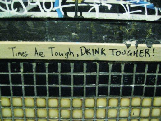 Location: Men's room, Bronx Bar, Detroit