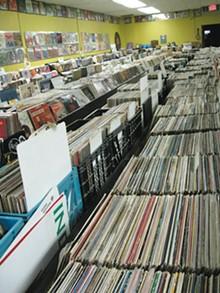 Lots of vinyl at Record Graveyard.