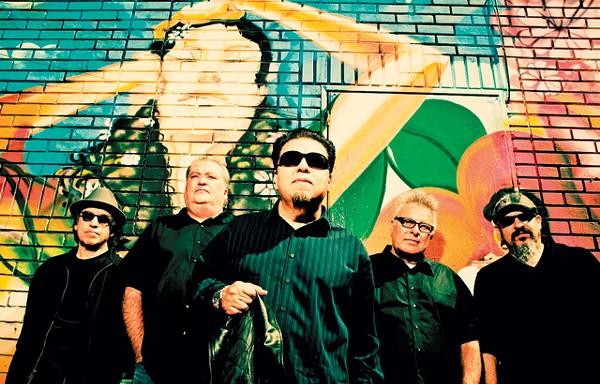 Louie Pérez (far left) and his Los Lobos bandmates. - DREW REYNOLDS