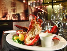 Maine Lobster from Wolfgang Puck Steak at the MGM Grand in Detroit. - ROBERT WIDDIS