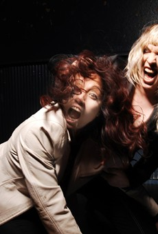 Mary Ramirez, left, and Rachel Nagy of the Detroit Cobras.