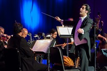 PHOTO COURTESY OF NAO - Michael Ibrahim conducts the National Arab Orchestra.