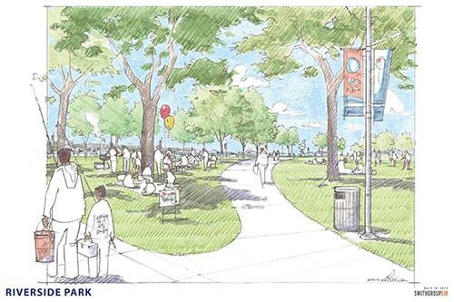 Rendering for Riverside Park - CITY OF DETROIT