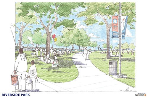 Rendering for Riverside Park - CITY OF DETROIT