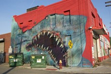 PHOTO BY LEE DEVITO - Most recently, 1XRUN facilitated a three-story mural by L.A. artist Shark Toof in Eastern Market.