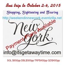 New York bus trip Banner