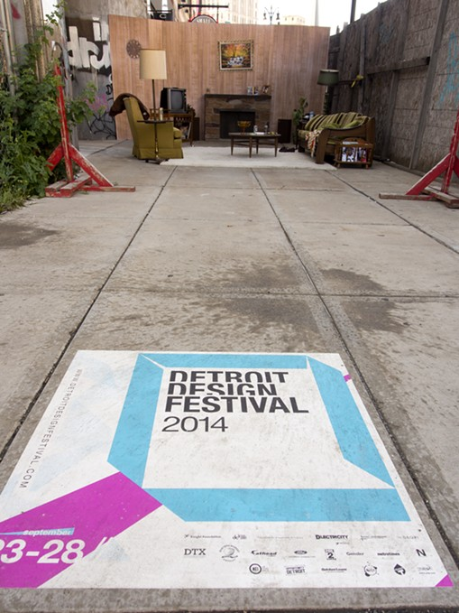 Skidmore Studios constructed an art installation during the Detroit Design Festival to highlight the decay of the Wurlitzer Building - COURTESY OF SKIDMORE STUDIOS