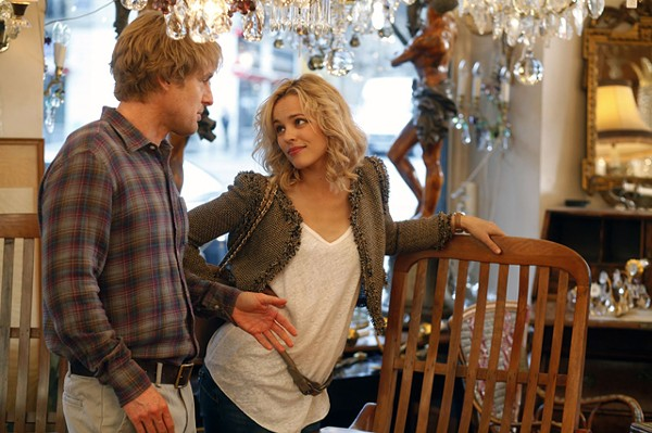 Nuptial diss: Wilson and McAdams in Midnight in Paris.
